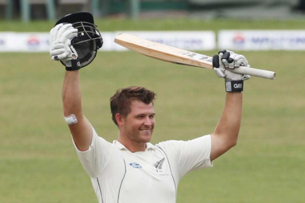 Corey Anderson posted his maiden century in just his third test innings, posting 116 to save the Black Caps from 127-4.