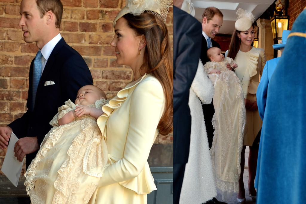 The princess wore a custom-made skirt suit that was designed by Alexander McQueen's Sarah Burton - the same designer who crafted her now-famous wedding dress.