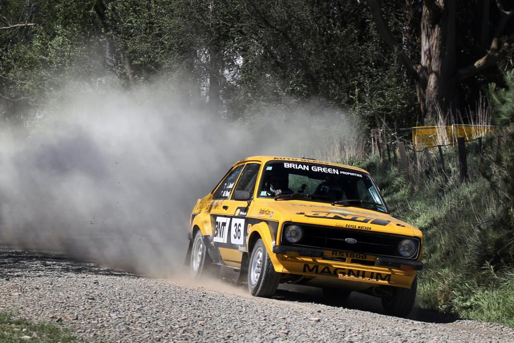 Jeff Judd from Christchurch in his Ford Escort RS1800 at the Waimate 50.