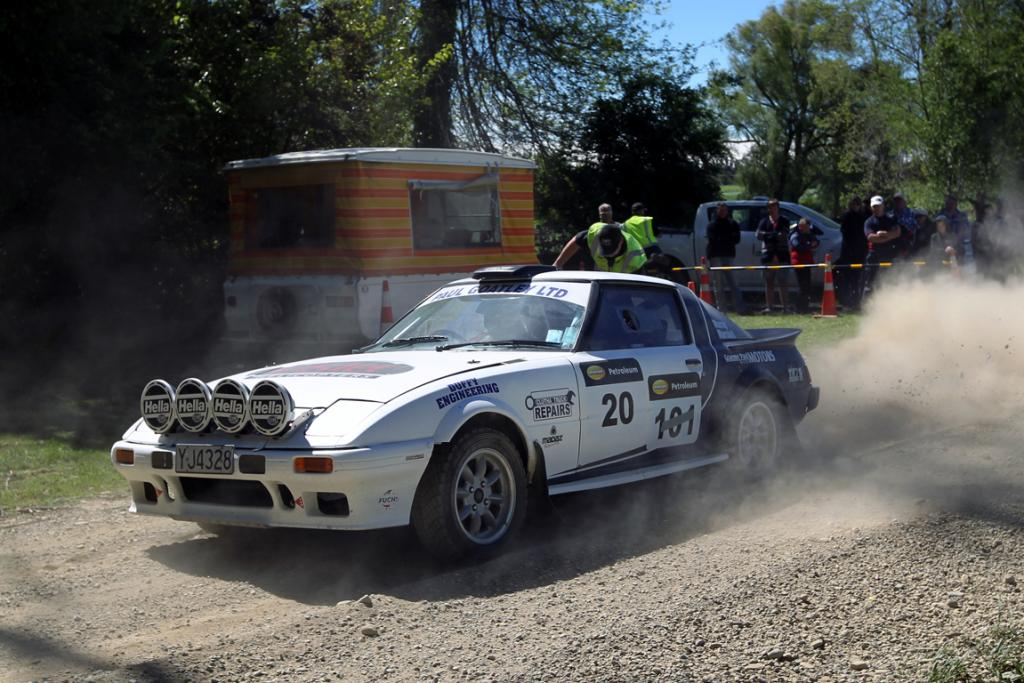 Dean McCrostie from Milton racing in his Mazda RX7 in the hillclimb at the Waimate 50.