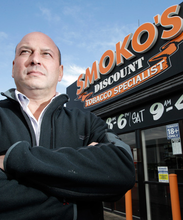 UP IN SMOKE: Kevin Carroll is the first retailer to be convicted under the new smokefree laws, for using Smoko in his business name.