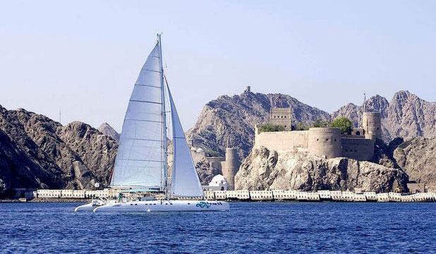 SAILING ON THE AZZURA: The Sultanate of Oman has long existed for me as an Arabian Nights fantasy of sheikhs and shebas, frankincense and myrrh, flying carpets and a sailor called Sinbad.