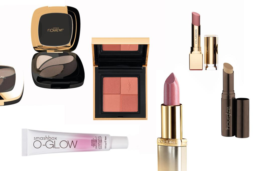 MEDIUM: L'Oreal Paris Colour Riches Les Ombres in Absolute Taupe, $29.99; Clarins Rouge Eclat Tint in Nude Rose, $49; Hourglass Hidden Corrective Concealer in Sand, $62; L'Oreal Paris Colour Riche Nude Lipstick in Taffeta, $23.99; Smashbox O-Glow Intuitive Cheek Colour, $48; Yves Saint Laurent Blush Radiance in No1, $87.00.