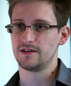 FUGITIVE: Edward Snowden.