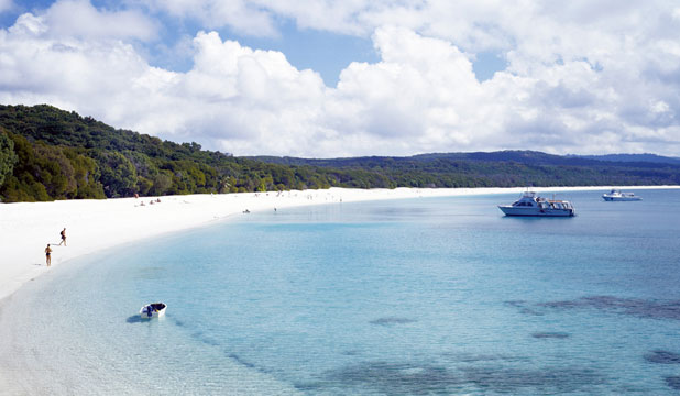 WHITEHAVEN BEACH: Abandoned in paradise.