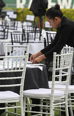 Setting the tables at Addington
