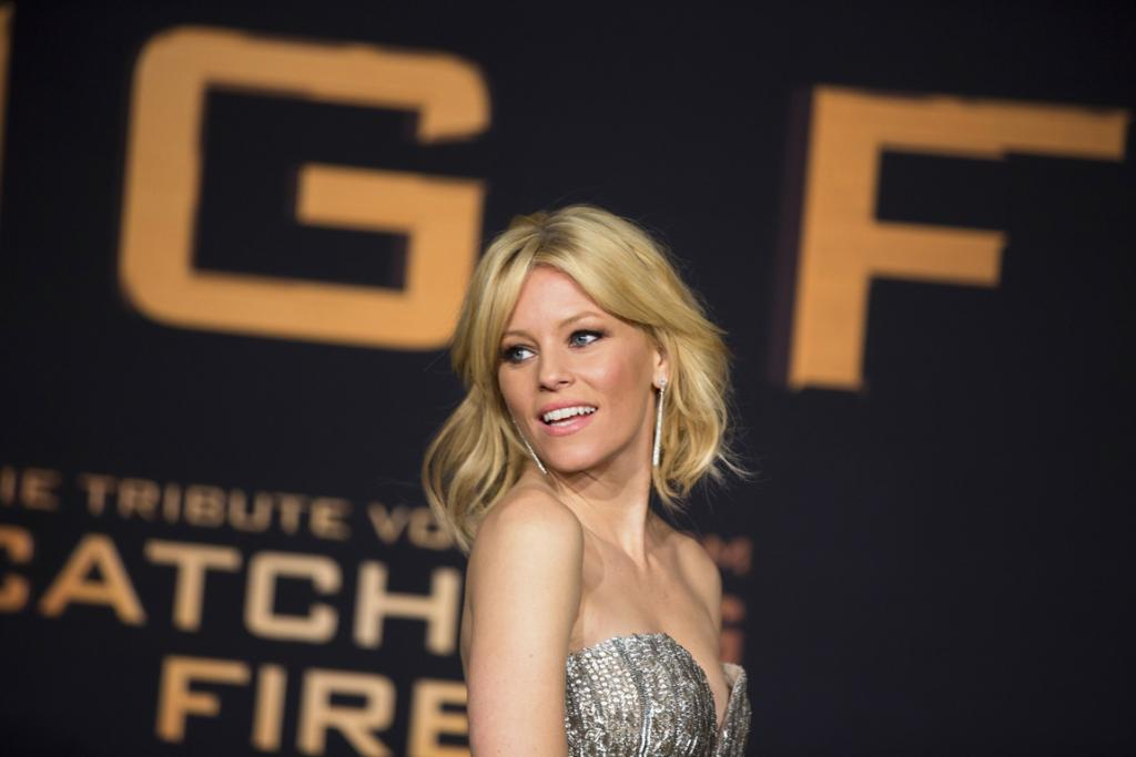 Actress Elizabeth Banks arrives for the world premiere of The Hunger Games: Catching Fire in London.