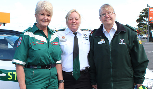 COMMUNITY CARERS: Erica Joseph, Megan Fairley and Patsy Carlyle share ideas and appreciate each other's roles in their medical fields.