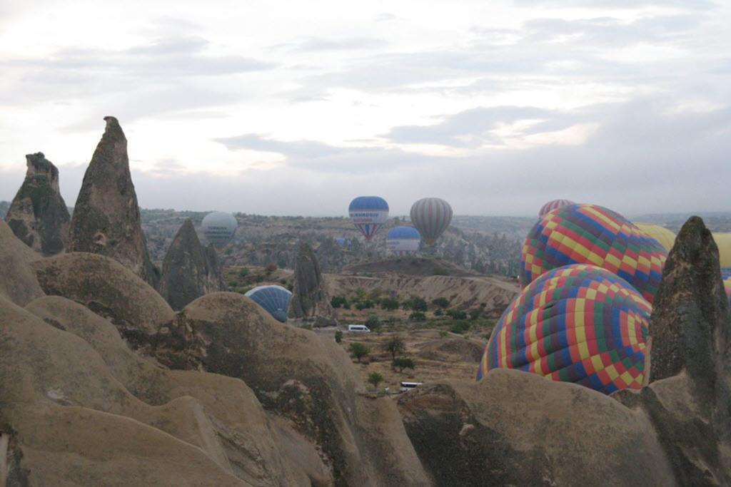 Hot-air balloons are a popular way to view the rock formations in the Cappadocia region of Turkey, but the author and her friends found ATVs a rewarding way to explore the centuries-old structures.