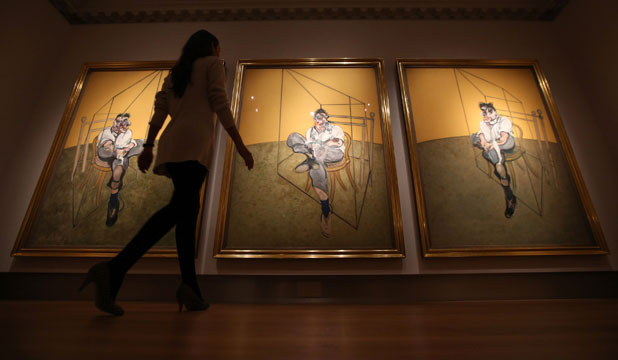 TOP DOLLAR: Francis Bacon's triptych the Three Studies of Lucian Freud sells at auction for $173 million.