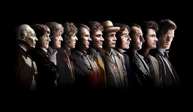 The eleven doctors of Doctor Who who have appeared over the 50 years the series has run.