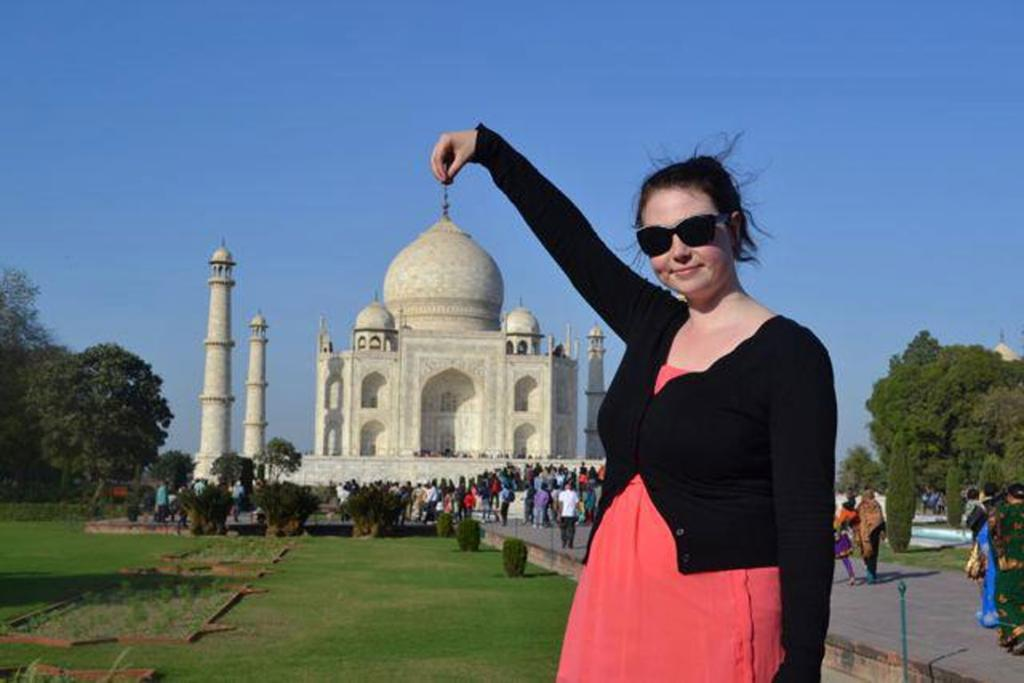 In my opinion you CAN NOT got to a place like the Taj Mahal and not take this photo. Although I did feel silly and got flack from my mates. But hey when am I going to be able to do this again? Better to enjoy the cheesy cliche than regret the missed opportunity!