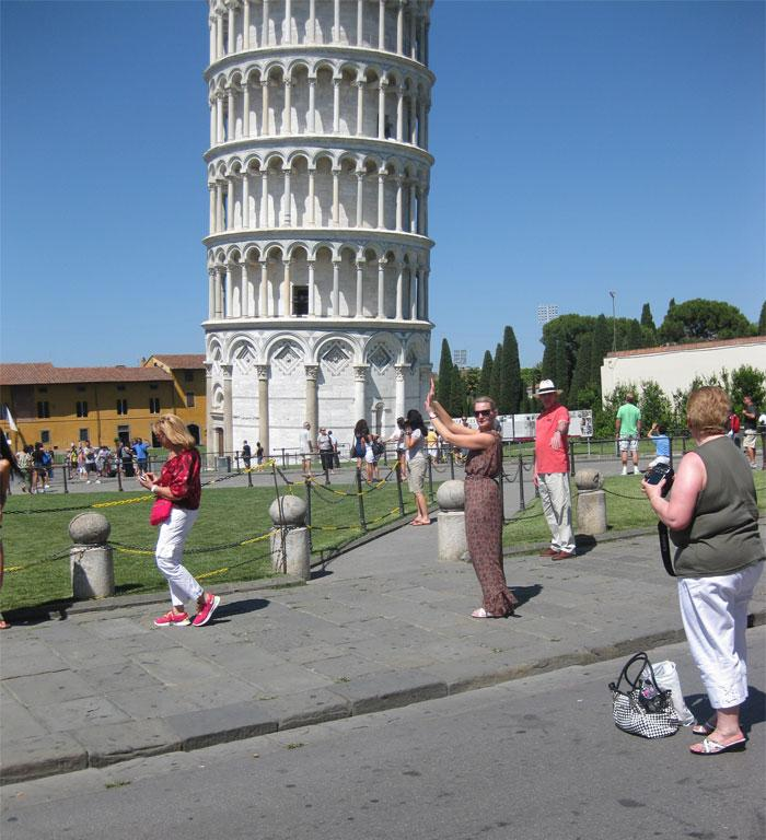 My mother 'Gretchen Preston' and I decided to splash out and go on a Med Cruise in June 2011. We went to heaps of awesome places such as Rome, Athens, Florence, Nice, Turkey and of course Pisa. So as you can imagine we decided to be typical unimaginative tourists and go for the 'holding up tower' pic. Unfortunately mum wasn't terribly adept on the camera and there were an awful lot of tourists around so this is the best pic we got of the 'cliche' shot. Not flash at all. But we did try and sometimes is the trying that counts… isn't it?