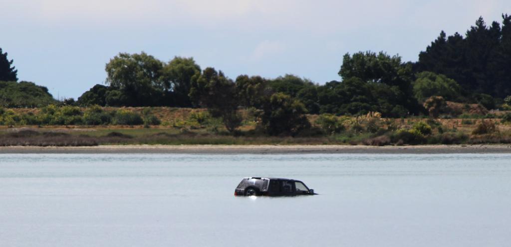 The 4WD's driver could be forced to pay for removal costs after getting stuck in an estuary.