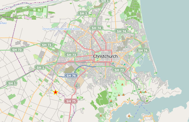 Christchurch quake location November 18