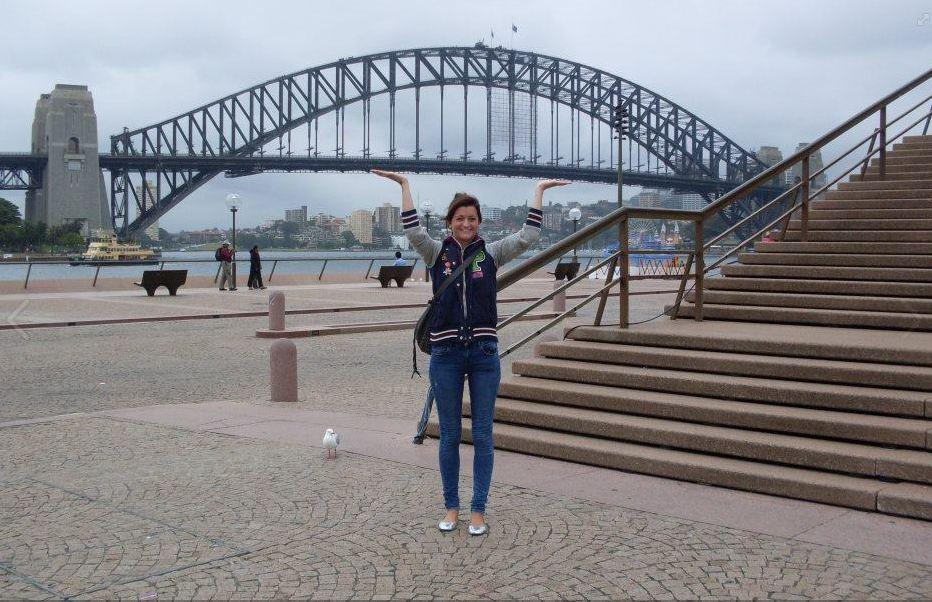 Holding up the Harbour Bridge