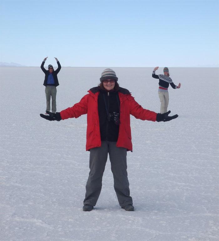 """""""Colleen take Ingy and Irma out for some fresh air."""" Taken in Bolivian Salt Flats 2007 by Paul McCloister."""