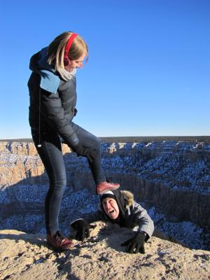 Over the edge at the Grand Canyon