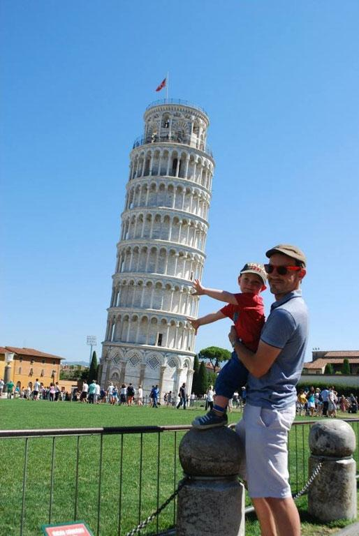 Ollie, 2, getting into tourist mode.