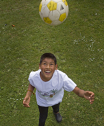 Deyvi Wilton, 12, who was adopted from Bolivia.