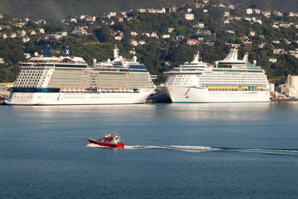 Cruise ships in Wellington