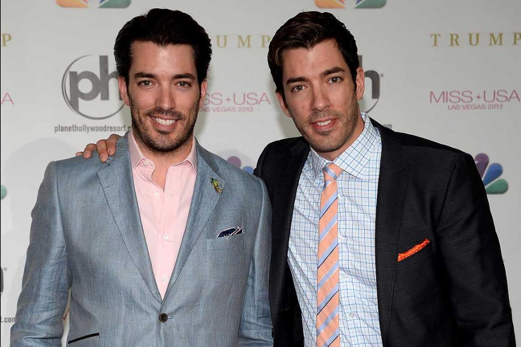 No 6: Identical brothers and TV personalities Jonathan and Drew Scott.