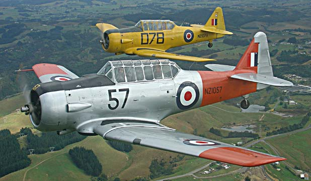 LONG SERVICE: A Warbirds open day is being held this weekend to celebrate 75 years of Harvard aircraft.