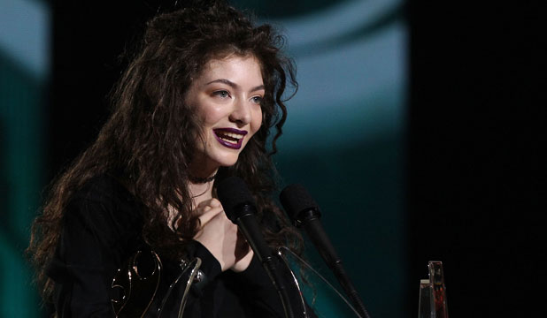 SING PRAISE: Lorde accepted her awards and opened the show.