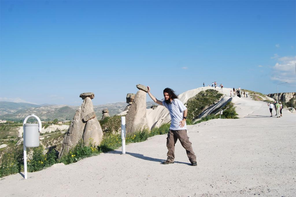 HARD WORK:  A cliched photo from Cappadocia.
