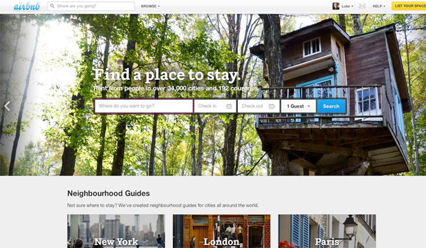 AIRBNB: This crowdsourced accommodation platform allows ordinary people to put up their places, spaces and spare rooms for other users to stay in.