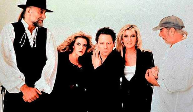 THE COMPLETE GANG: Fleetwood Mac in 1997. Christine McVie is second from right, and John McVie far right.