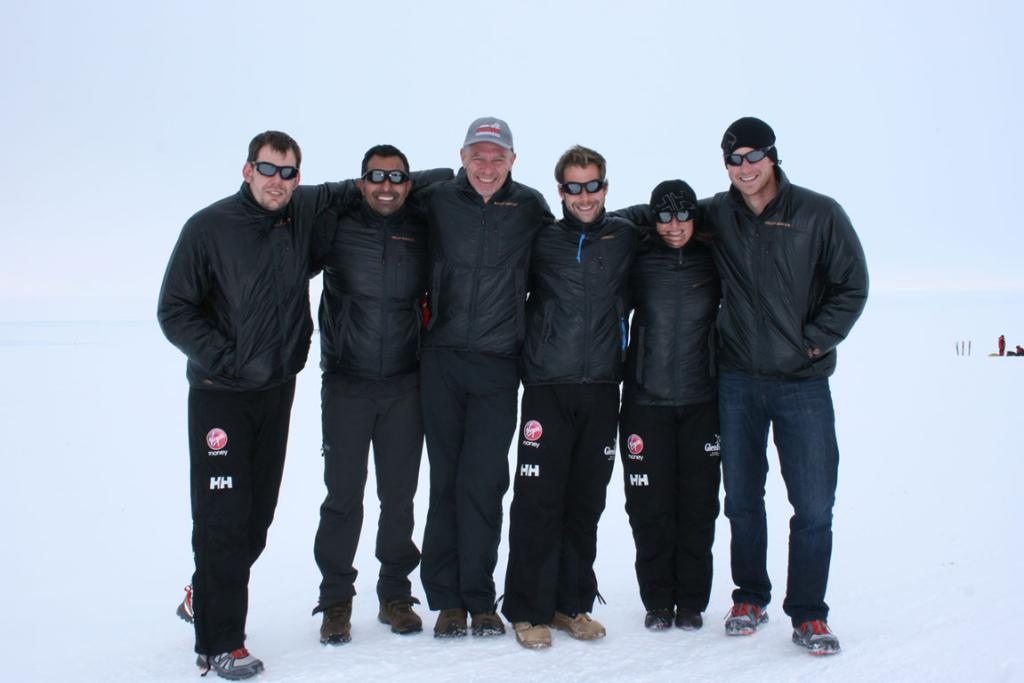 The team: (R-L) Prince Harry, Kate Philp, Guy Disney, Richard Eyre, Ibrar Ali and Duncan Slater.