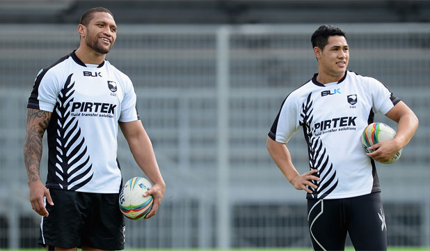 Manu Vatuvei (left) and Roger Tuivasa-Sheck are under an injury cloud.