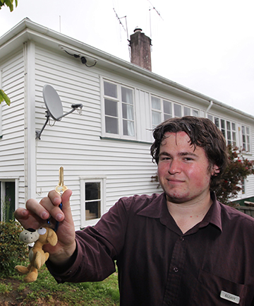 HOME TRUTH:  Elliot Talbott, 20, is celebrating becoming a first home buyer thanks to the Housing New Zealand FirstHome initiative.