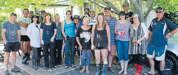 PITCHING IN: Friends of Vicki Wood Trust who created a garden sanctuary at Nelson Tasman Hospice.