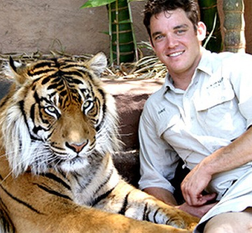 tiger and trainer