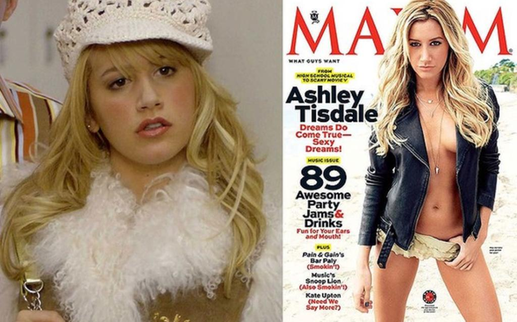 Ashley Tisdale shed her High School Musical image with this Maxim cover.