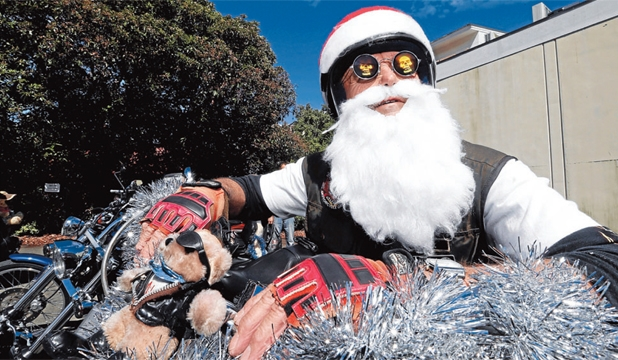 JINGLE BELLS: Alvin Johnston dressed as Santa for last year's event.