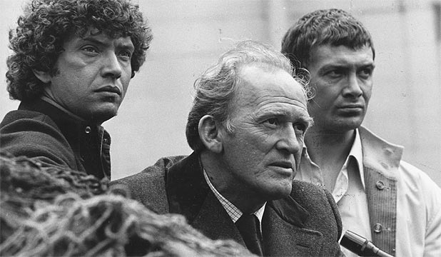 PROFESSIONALS: Lewis Collins, right, with Martin Shaw, left, and Gordon Jackson.
