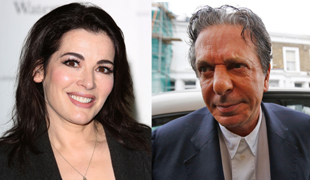 COURT DRAMA: Celebrity cook Nigella Lawson and her former husband Charles Saatchi.