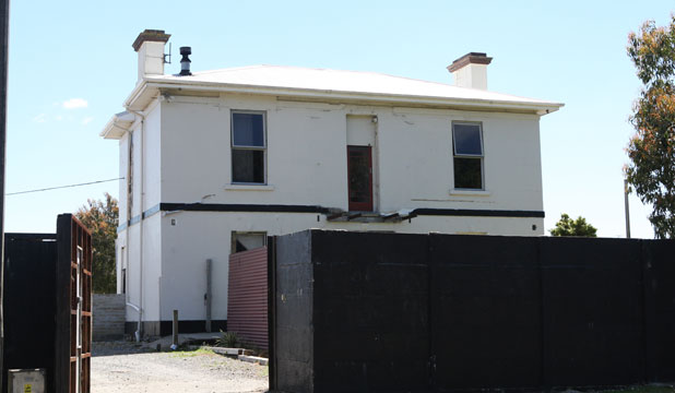 The Road Knights Headquarters in Invercargill. Police executed a search warrant at the property this morning.