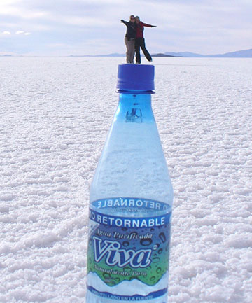 PERSPECTIVE: Myself and my friend Sara, at the Bolivian salt flats.