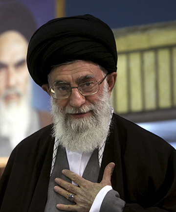 SUPREME LEADER: Ayatollah Ali Khamenei, shown at a 2009 clerical gathering, formerly oversaw an organization called Setad that has assets estimated at about $95 billion.