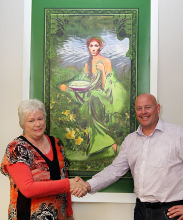 Painting donated to the Timaru District Council