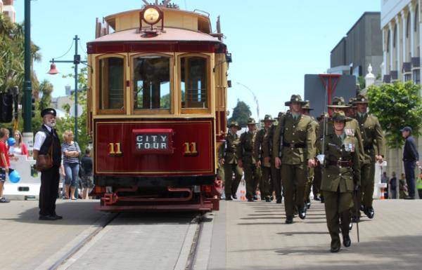 Army parade through Christchurch CBD
