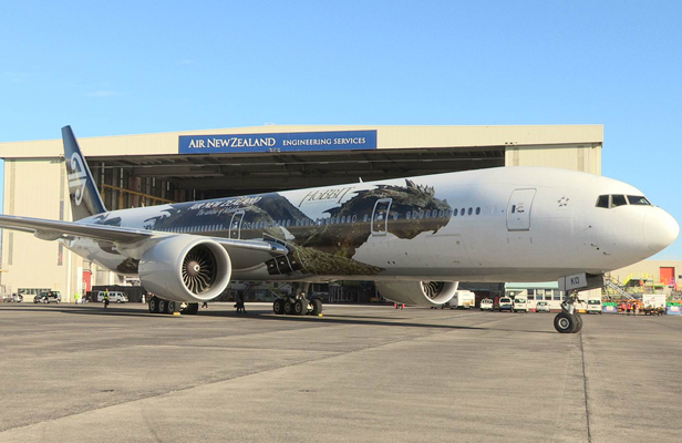 Smaug on Air New Zealand plane