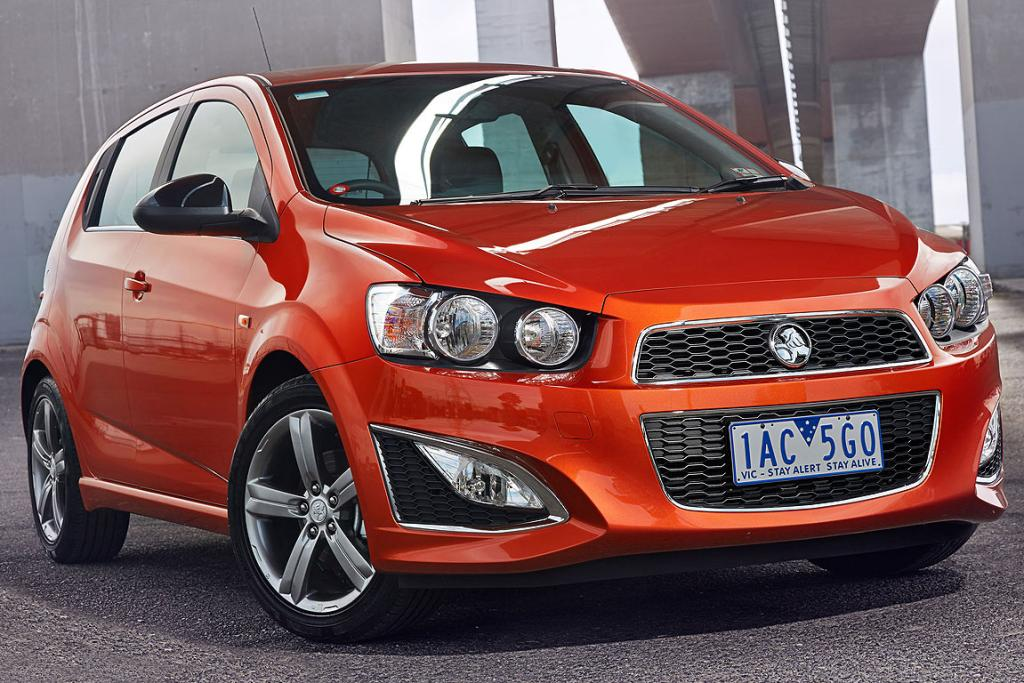 Holden Barina RS: In its new hero paint body colour Orange Rock.