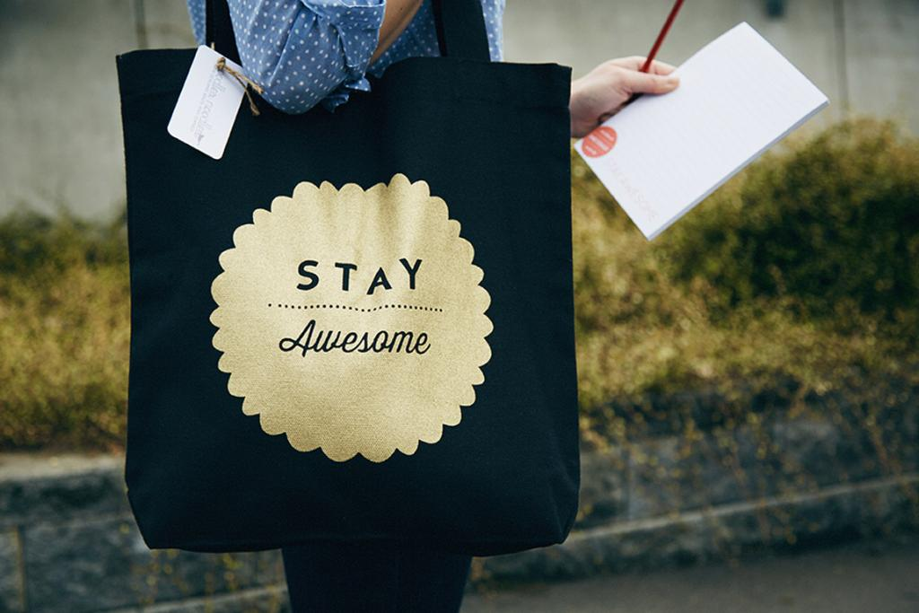 """THE STAY AWESOME BAG, $25: Send the right message to your mate with this 100 per cent cotton gift bag, which is screen printed in NZ using vegetable inks.  <a href=""""http://felt.co.nz/listing/184755/Black-and-Gold---Limited-Edition---Stay-Awesome---Screen-printed---100-cotton-tote-bag---Everyday-bag"""" target=""""_blank"""">Available at Felt.co.nz.</a>"""
