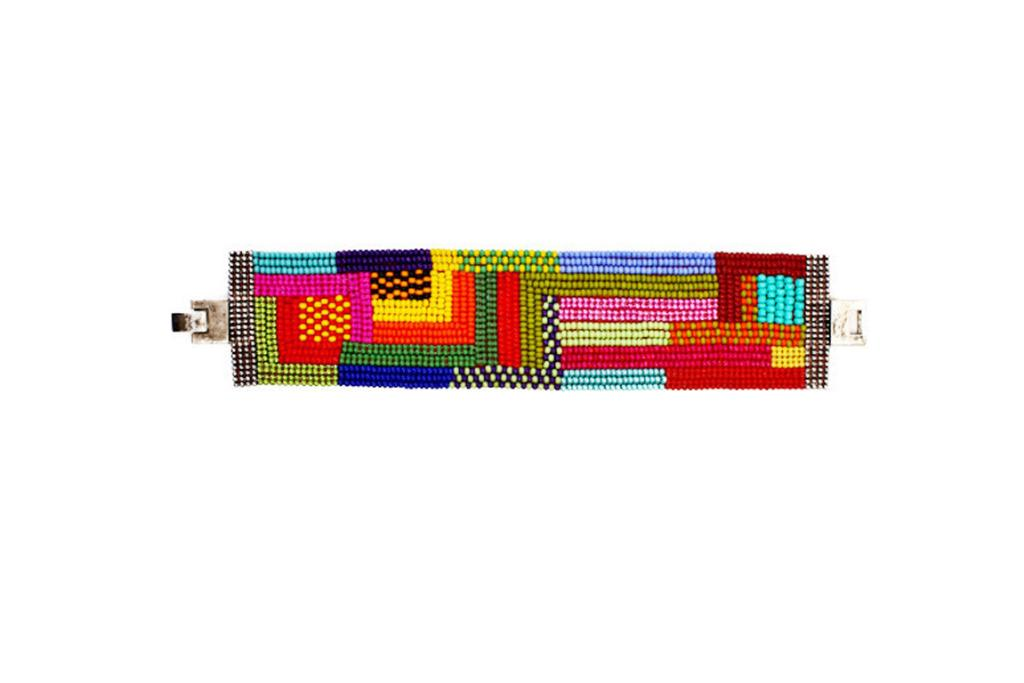 """BEADED CUFF FROM IKO IKO, $39.90: If your friend's a fan of Miu Miu, Missoni or DVF then she'll love this colourful cuff. This, a pair Ray Bans, some jean shorts, a white singlet and beach hair = the ultimate summer outfit.  <a href=""""http://ikoiko.co.nz/collections/accessories-30-50/products/beadedcufflarge"""" target=""""_blank"""">Check it out here.</a>"""