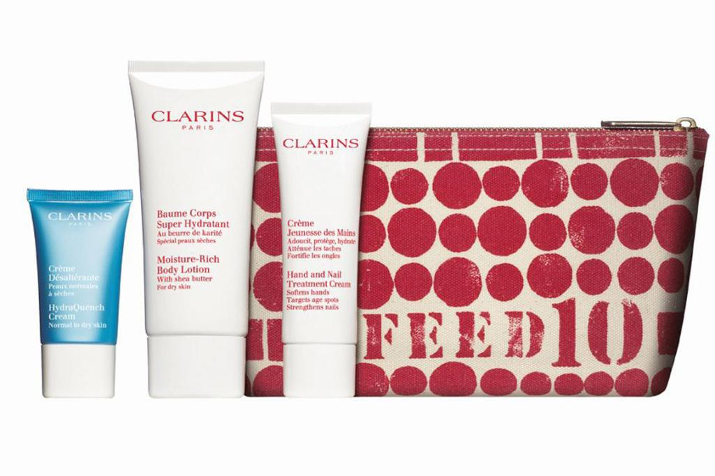 CLARINS FEED 10 POUCH, $56: Okay, so this is a little bit over $50, but every one of these skin care packs purchased provides 10 school meals to the UN World Food Programme (so that extra $6 is worth it). Team Life & Style thinks Clarins is one of the most underrated brands, as everything we've tried from them we've loved. With this pouch you get a 15ml HydraQuench cream, a 100ml Moisture Rich body lotion and a 50ml Nail treatment cream (the perfect summer moisture kit). Available from leading department stores and select pharmacies.